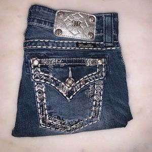 Studded bootcut miss me jeans.
